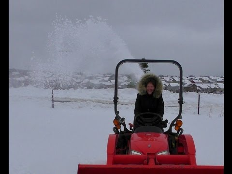 20 minute tractor/snow blowing lesson Kubota BX