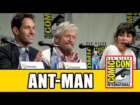 Ant-Man Comic Con Panel - Paul Rudd, Evangeline Lilly, Michael Douglas, Corey Stoll & Peyton Reed