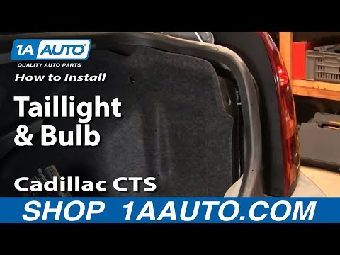 how to install replace taillight and bulb cadillac cts 03. Black Bedroom Furniture Sets. Home Design Ideas