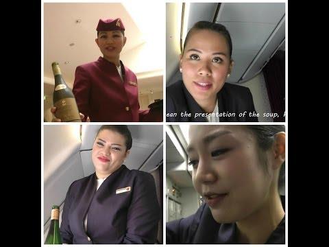 Qatar Airways Business Class: a Five Star Experience in HD. Full Flight Dubai-Doha-Frankfurt