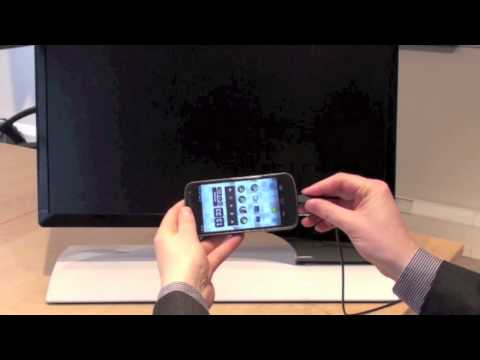 Smartphone video streaming on Samsung Monitors with MHL technology