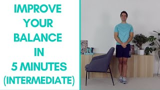 Fitter in 5 - Intermediate Balance Exercises For Seniors (5-Minutes)