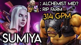 Sumiya Invoker God on How To Delete Alchemist MID RIP Farm 314 GPM Dota 2