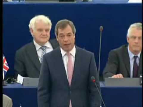 UKIP MEP Nigel Farage stunning attack on PM Gordon Brown !!! - March 2009