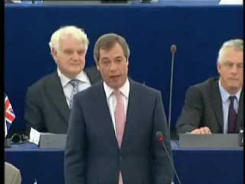 UKIP MEP Nigel Farage stunning attack on PM Gordon Brown !!! - March 2009