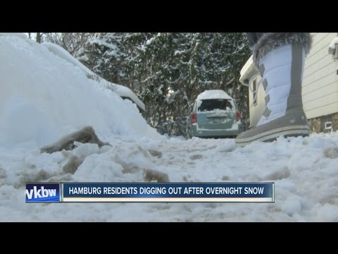 Hamburg residents digging out after overnight snow