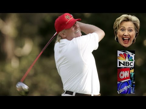 President Donald Trump Retweets Animated GIF Of Golf Ball Hitting Hillary Clinton. Lol!