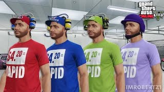 GTA 5 Online - Best Shirt Color Glitch! Change T-Shirt Color! Cool Clothing Outfits (GTA 5 Glitches)