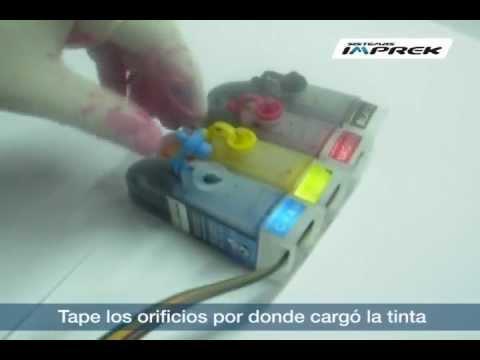 Instructivo de recarga de tinta en sistema continuo de 50cc