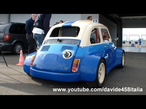 +200 HP Fiat 500 with Suzuki Hayabusa Gsx-R1300 engine: sound and track