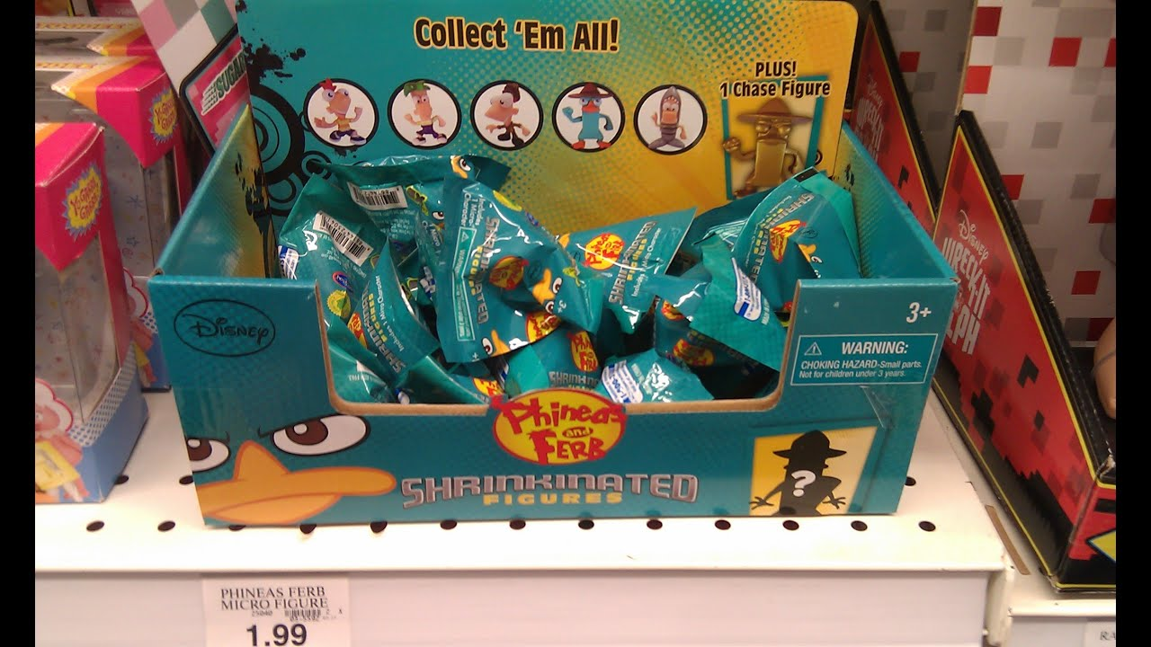 Phineas And Ferb Shrinkinated Figures Blind Bags Opening