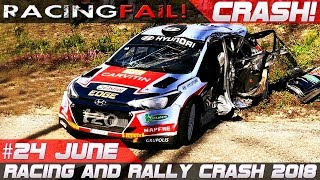Racing and Rally Crash Compilation Week 24 June inc. WRC Rally Sardegna 2018