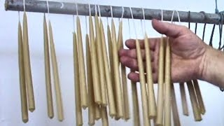 How To Make Perfect Dipped Beeswax Taper Candles (In An Old Tin Can)