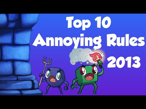 Top Ten Annoying Rules in Board Games