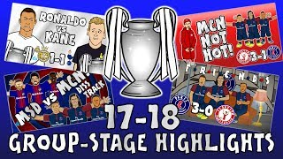 🏆GROUP STAGE HIGHLIGHTS - UCL 2017/18🏆 (UEFA Champions League Parody 442oons) MP3