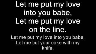 AC/DC-Let Me Put My Love Into You Lyrics