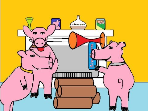 Funny cartoons the three little pigs youtube