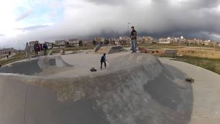 Traxxas Stampede RC Jumps into Sunset at Skateboard Park - Green Valley Ranch