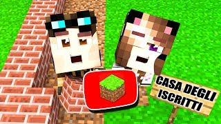 COSTRUIAMO LA CASA DEGLI ISCRITTI SU MINECRAFT! - Casa di Minecraft LIVE