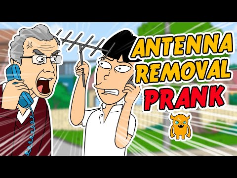 Angry Antenna Removal Prank (animated) - Ownage Pranks video