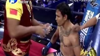 Hu Ya Fei vs Saiyok Pumpanmuang Saiyok's 1st fight in China WLF 3rd October 2015