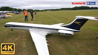 ???? GIANT RC VICKERS VC10 with FOUR micro JET ENGINES [*UltraHD and 4K*]