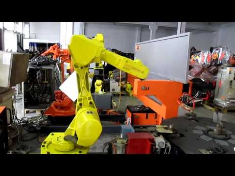 Used robot Fanuc ARC Mate 100i control R-j2 at www.eurobots.net