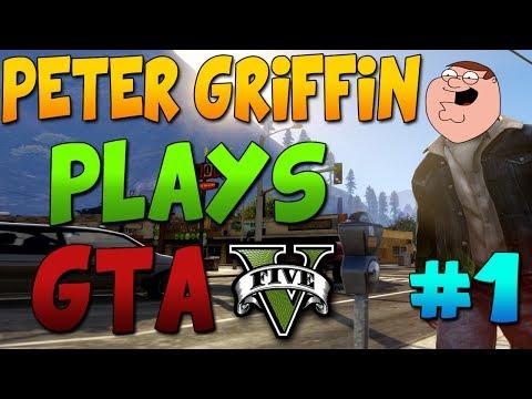 Peter Griffin Plays Gta V Online Ep#1| Rip Brian, Strip Club, Naked Ladies! video