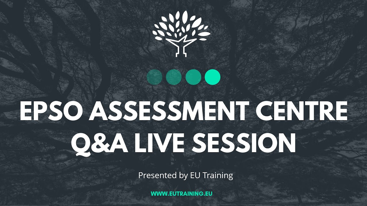 EPSO Assessment Centre Q&A LIVE Session