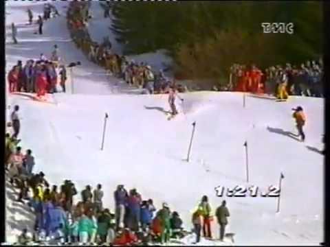 Alberto Tomba wins slalom (Wengen 1992)