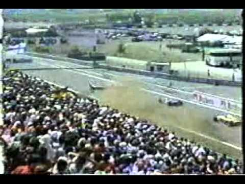 Ukyo Katayama terrible crash at Estoril 1995 grand prix. The crash was caused by Luca Badoer and it involved Andrea Montermini&#039;s Pacific.