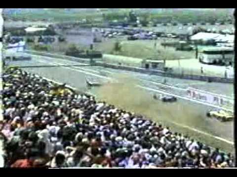 Ukyo Katayama terrible crash at Estoril 1995 grand prix. The crash was caused by Luca Badoer and it involved Andrea Montermini's Pacific.