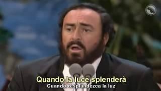 Luciano Pavarotti Placido Domingo Jose Carreras Nessun Dorma Subtitulado Español Inglés