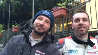 Rally del Rubinetto - interviste dopo la PS1