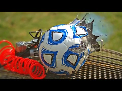 What Will Happen If You Overfill Soccer Ball? + Slow Motion