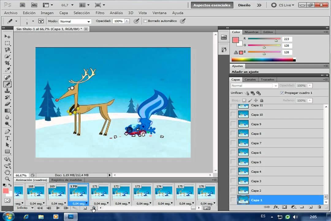gif animados con imageready: