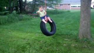 Baby falls off swing