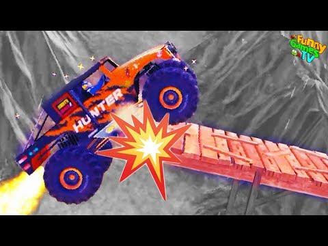 Мультик игра НЕВЕРОЯТНЫЕ МАШИНЫ МОНСТРЫ гонки на огромных машинках Монстр траки на безумной дороге
