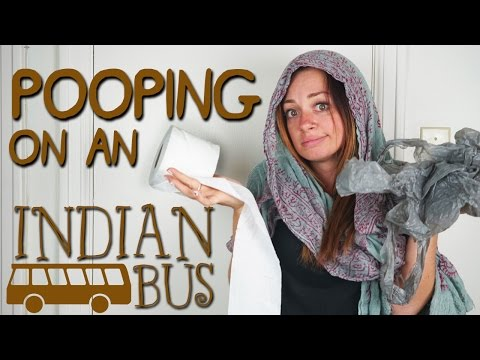 Pooping on an Indian Bus thumbnail