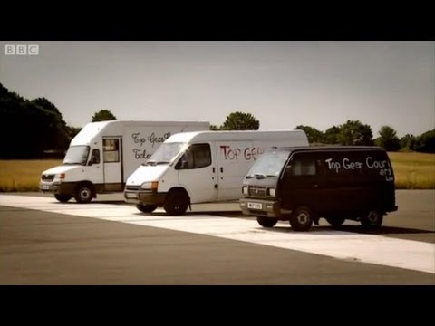 Top Gear - Man with Van drag racing with guys from Top Gear pt 1 - BBC Video