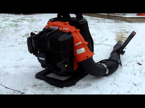 Blowing Snow With The Echo PB 500T Backpack Blower