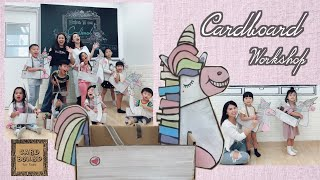 🦄自製紙皮獨角馬 DIY Cardboard Unicorn🦄 | Cardboard for kids x BusymamaBenny 牛皮紙板藝術工作坊