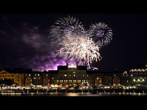 Disney's FROZEN Summer Fun Fireworks Display Over Disney's Boardwalk Resort from Beach Club