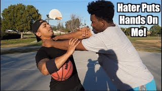 HATER KID disses me in Basketball game!