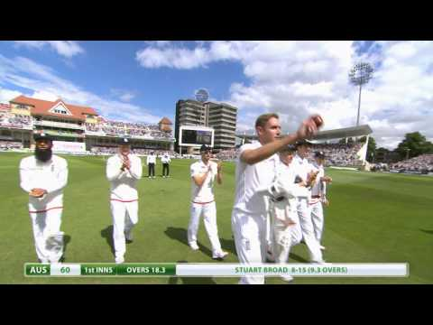 Ashes highlights - Stuart Broad takes 8-15 and Joe Root hits century