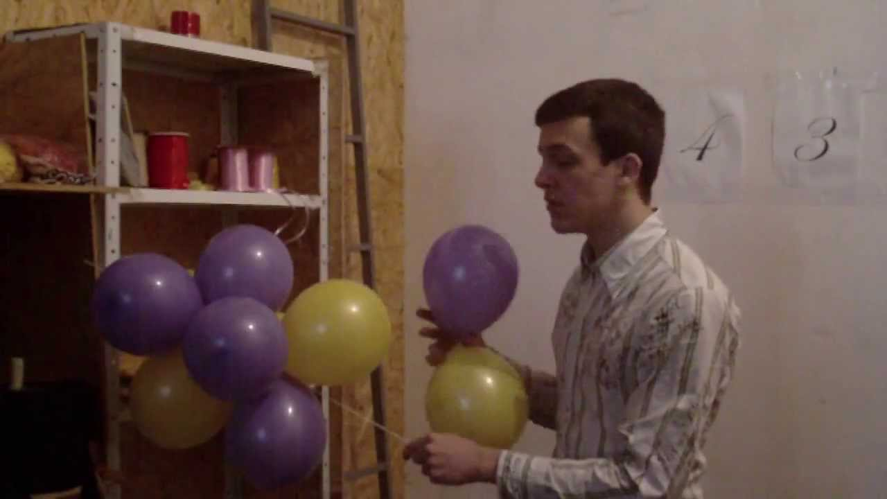 Гирлянды из шариков своими руками фото