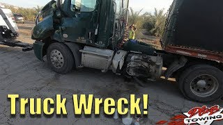Semi Truck Invloved In Accident - Swift Cleanup and Recovery