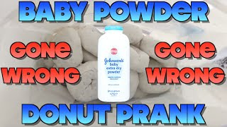 BABY POWDER DONUT PRANK - GONE WRONG! (Pranks 2016)