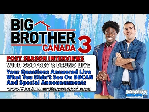 Big Brother Canada 3 Post Show Interview with Bruno Ielo and Godfrey Mangwiza