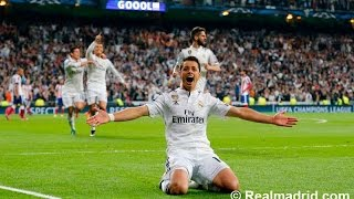 Real Madrid vs Atletico de Madrid Gol de Chicharito Audio Cope 22/04/15 Champions League